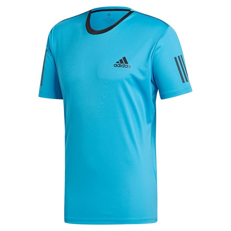 ADIDAS - CLUB 3 STRIPES TEE BLÅ