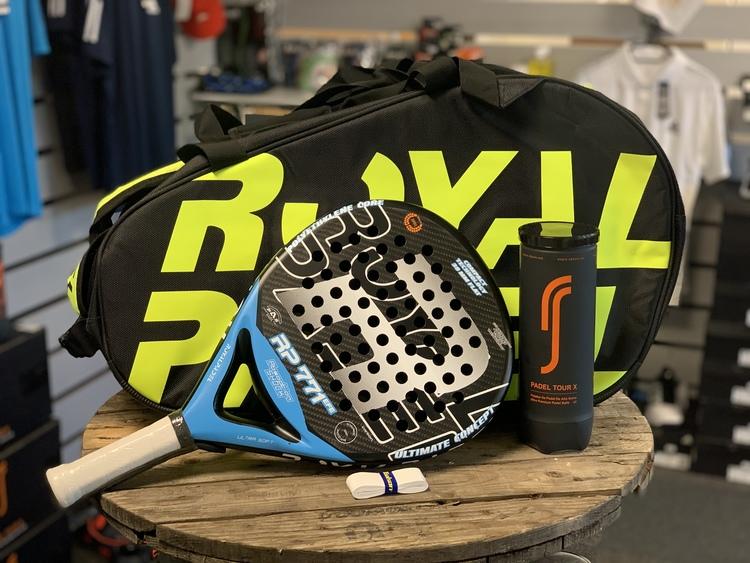 Royal padel paket - EFE 771, padelväska, RS Tour X och grepplida från Toalson