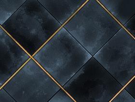 Aqua Tile - Gold