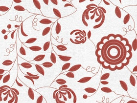 Delsbosöm - Traditional Swedish embroidery - Ingrid - Red