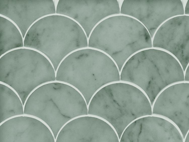 Fishscale marble. marmortapet från Kullastintan. Grön
