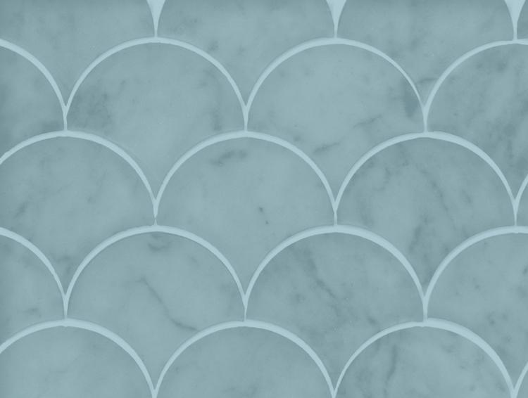 Fishscale marmortapet i mintgrönt från Kullastintan