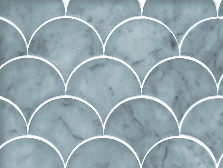 Fishscale Marble - Touch of green