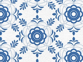 Delsbosöm - Traditional Swedish embroidery - Kristina blue