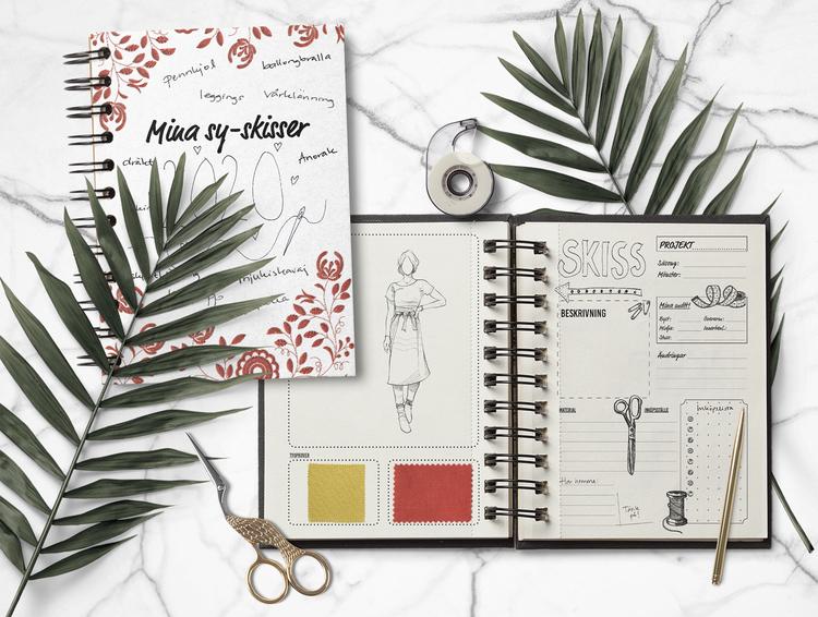 Mina sy-skisser – digital skissbok för utskrift