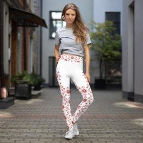 Yoga Leggings - Delsbosöm Kristina Röd