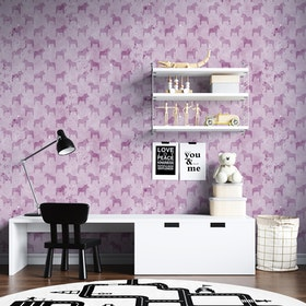 Akvarellhästar - Rosa
