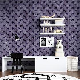 Akvarellhästar - Violett