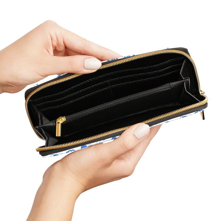 Plånbok med dragkedja - Delsbosöm Ingrid blå