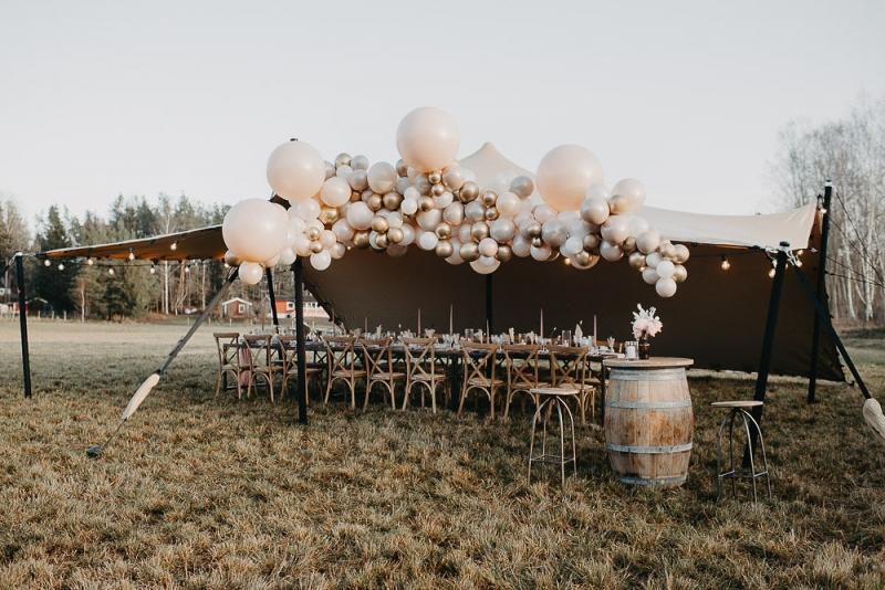 Boho, bröllop och ballonger!