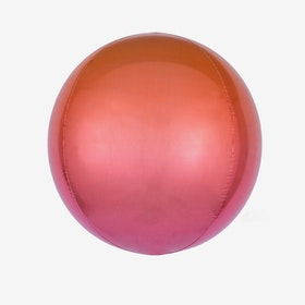 Heliumfylld Folieballong - Orbz Ombre Red & Orange