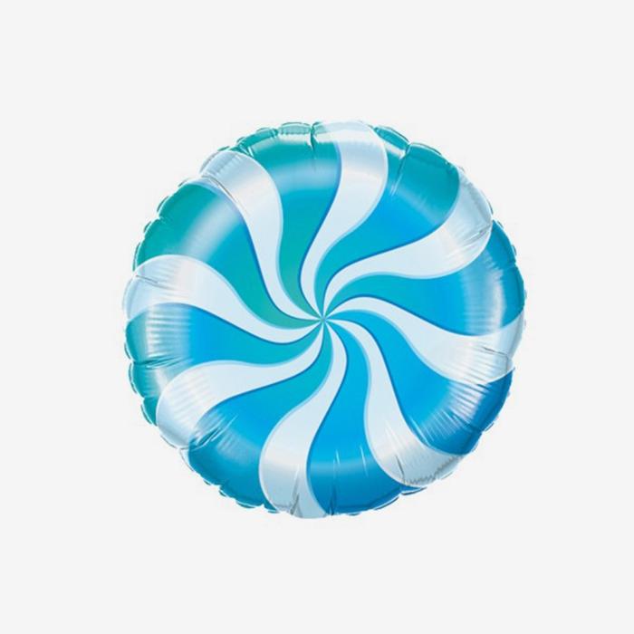 Ballongpost - Folieballong - Candy - Blå