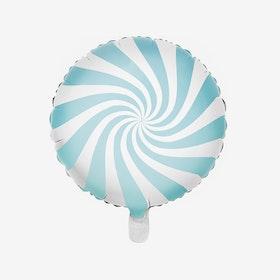 Ballongpost Folieballong - Candy - Ljusblå