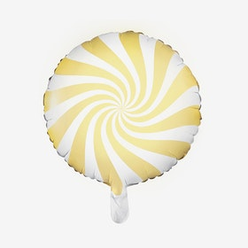 Ballongpost Folieballong - Candy - Ljusgul