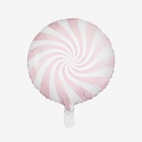 Ballongpost - Folieballong - Candy - Puderrosa