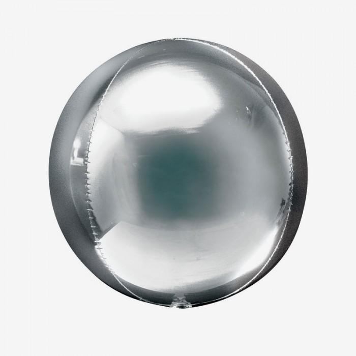 Ballongpost - Folieballong - Orbz Silver