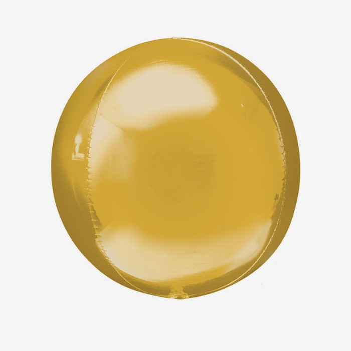 Ballongpost - Folieballong - Orbz Guld