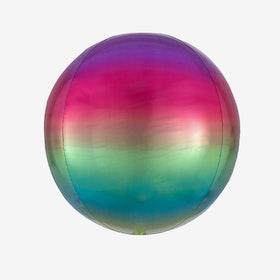 Ballongpost - Folieballong - Orbz Ombre Rainbow