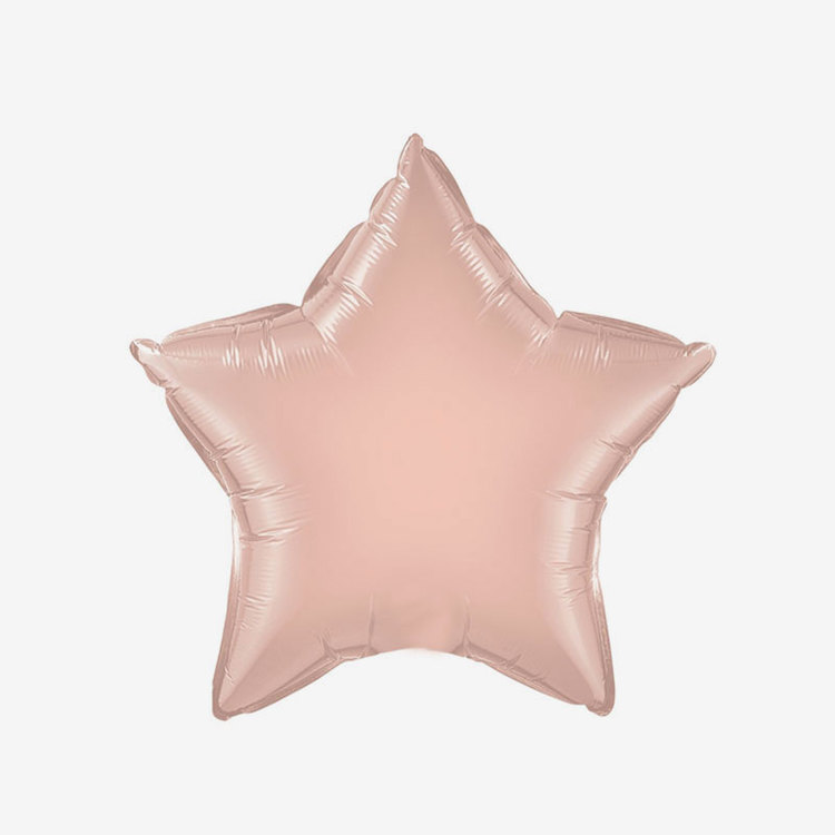 Ballongpost Folieballong - Stjärna Rosé
