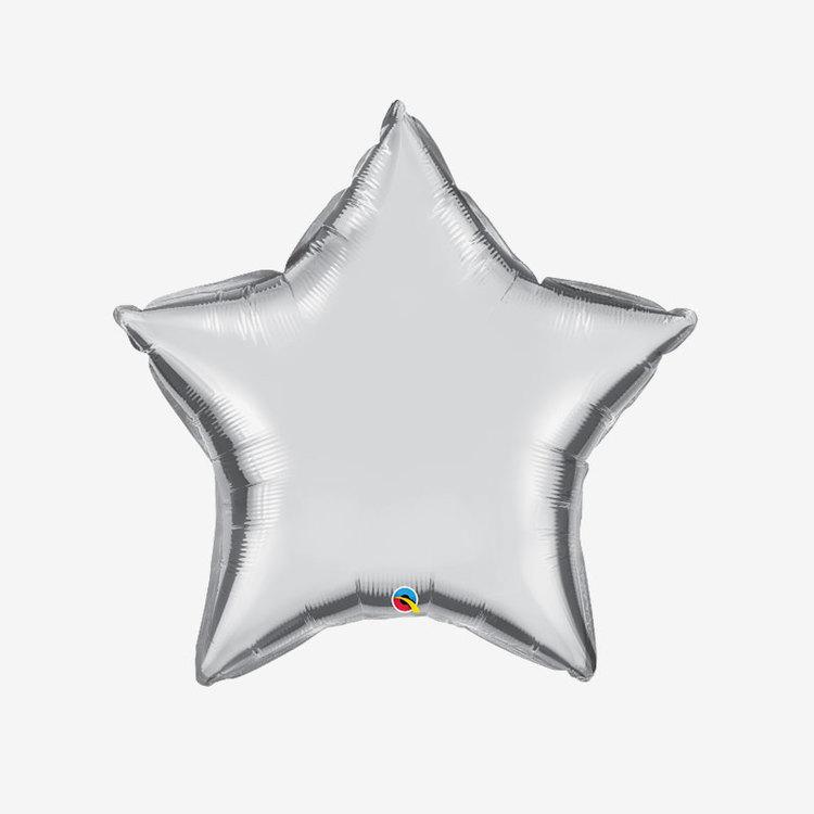Ballongpost Folieballong - Stjärna Silver