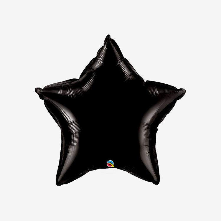 Ballongpost Folieballong - Stjärna Svart