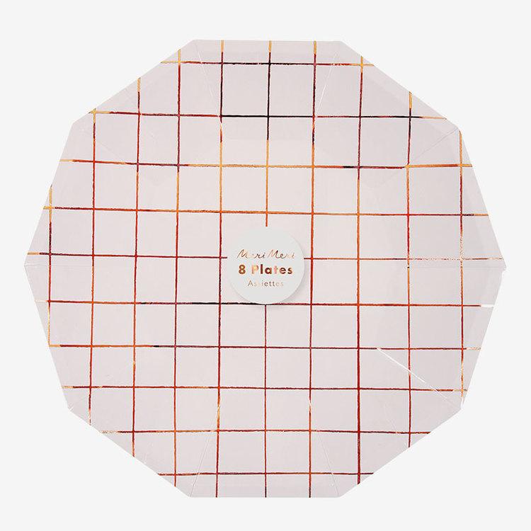 Tallrikar - Rose Grid