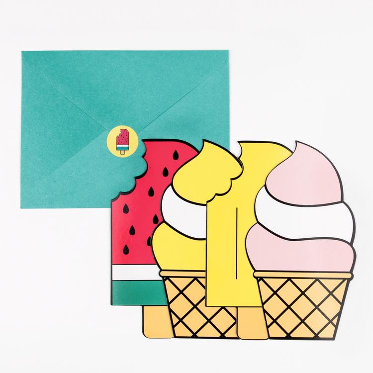 Inbjudningskort Ice Cream