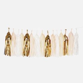 Tasselgirlang  - Puderrosa och Guld