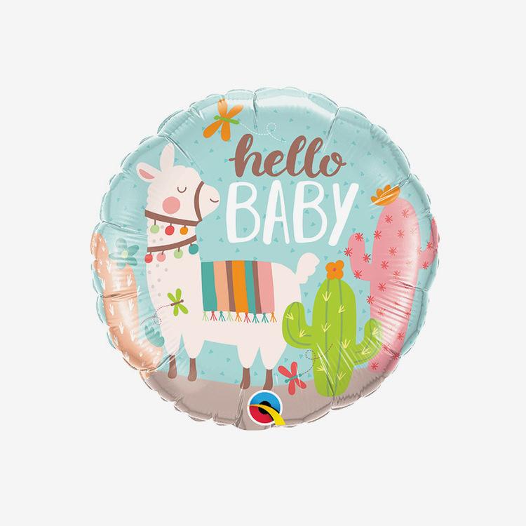 Folieballong - Hello Baby Lama
