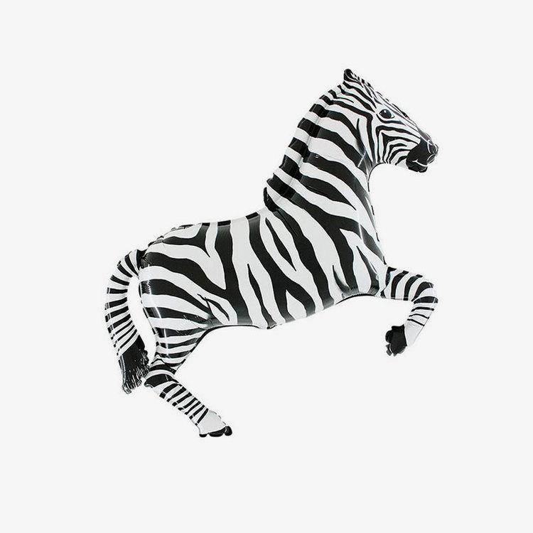 Folieballong - Zebra