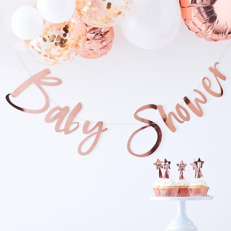 Girlang Babyshower Roseguld