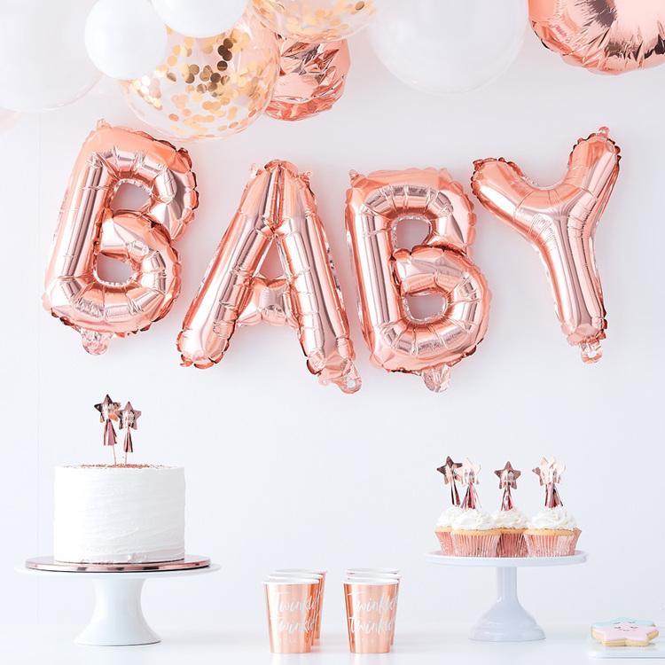 Ballonggirlang BABY- Roséguld