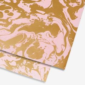 Presentpapper Pink Marble