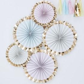 Pinwheels - Pastell Guldfolie