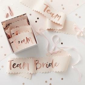 Sashes Team Bride