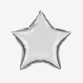 Folieballong - Stjärna Silver