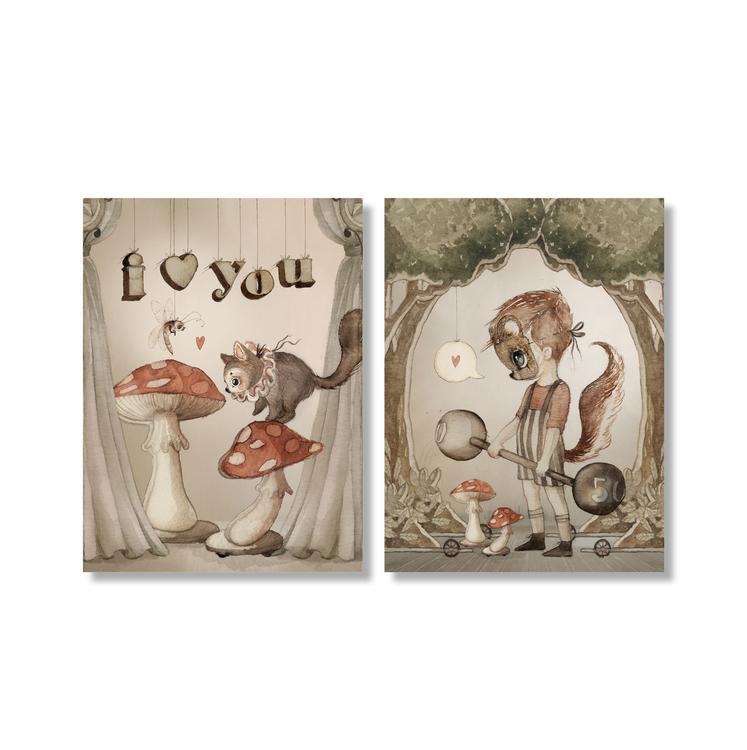2-pack kort Strong Love -  Mrs Mighetto