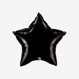 Folieballong - Stjärna Svart