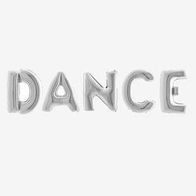 Bokstavsballonger Dance - Silver