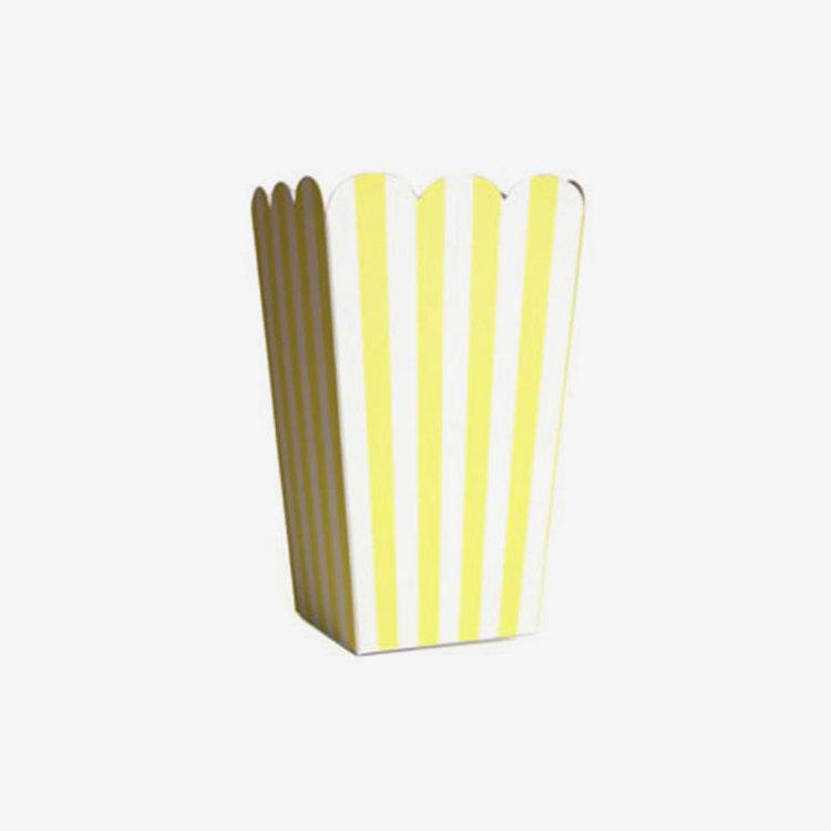 Popcornbägare Gula