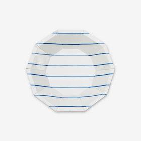 Tallrikar - Frenchie Stripe Blå