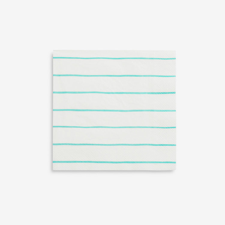 Servetter - Frenchie Stripe Mint