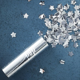 Konfettibomb Metallic Star Silver