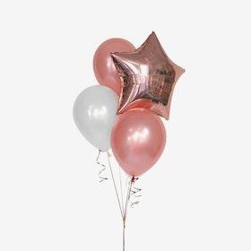Ballongbukett - Rosé Star
