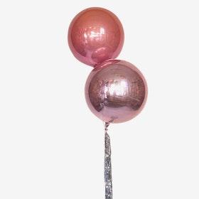 Ballongbukett Studenten -  Tailed Dubble Orbz - Rosé