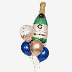 Ballongbukett Studenten - Champange Bubbles