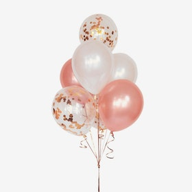 Ballongbukett - Rosé Konfetti