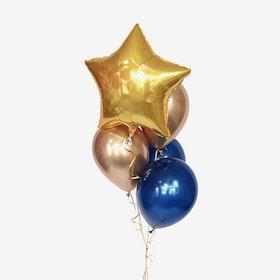 Ballongbukett Star - Guld