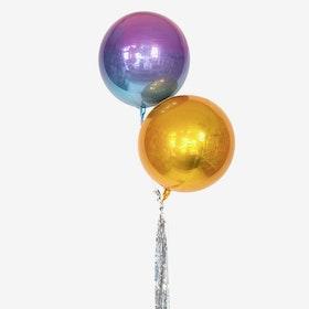 Ballongbukett -  Tailed Double Orbz - Guld