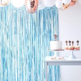 Draperi - Blå matt